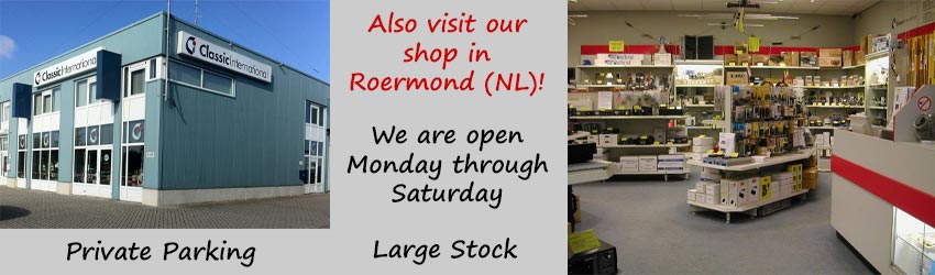 Also visit our shop in Roermond (NL) !