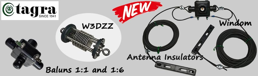 New in our product range! Tagra Antennas, Baluns and Insulators.