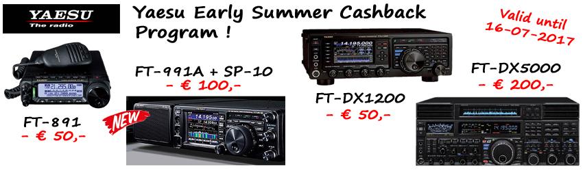 Yaesu Early Summer Cashback Program!