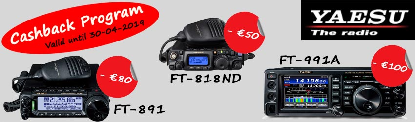"Yaesu ""Early Spring"" Cashback Program"