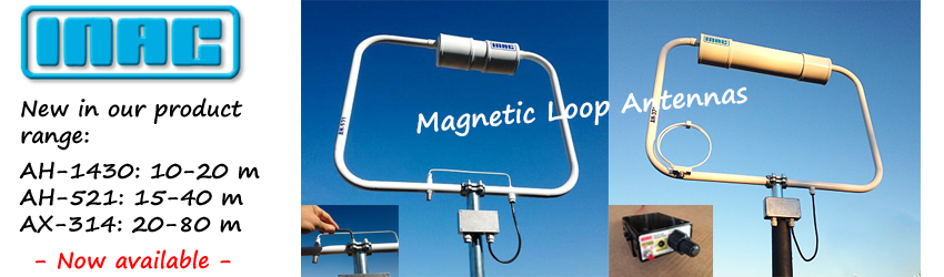 New in our product range: INAC Magnetic Loop Antennas