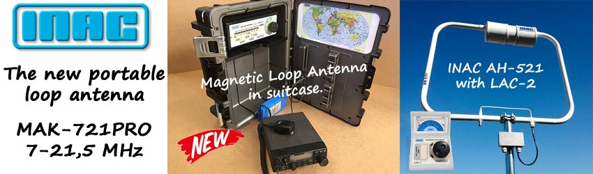 New: INAC MAK-721PRO Magnetic Loop Antenna in suitcase
