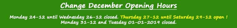 Change December Opening Hours