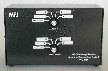 MFJ 4724 | Electronic Desk/Remote Antenna/Transceiver Switch