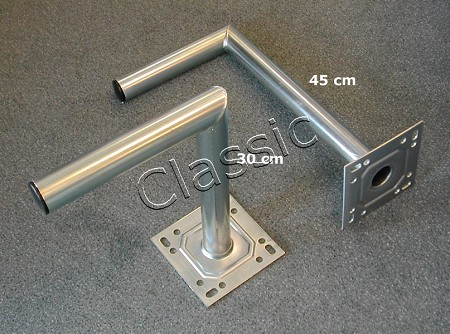 Wall mouting bracket, 45 cm