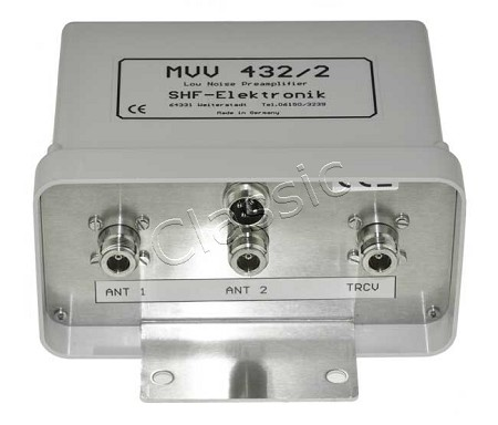 MVV 432-2 | Masthead preamp 70 cm band 2 antenna input