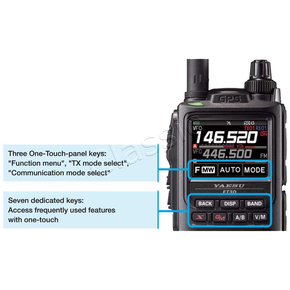 YAESU FT3 DE Dualband C4FM / FM Handheld 2 m/70 cm with GPS